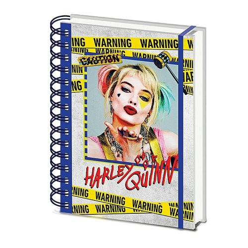 DC Comics Harley Quinn Birds Of Prey A5 Wiro Notebook Note Pad